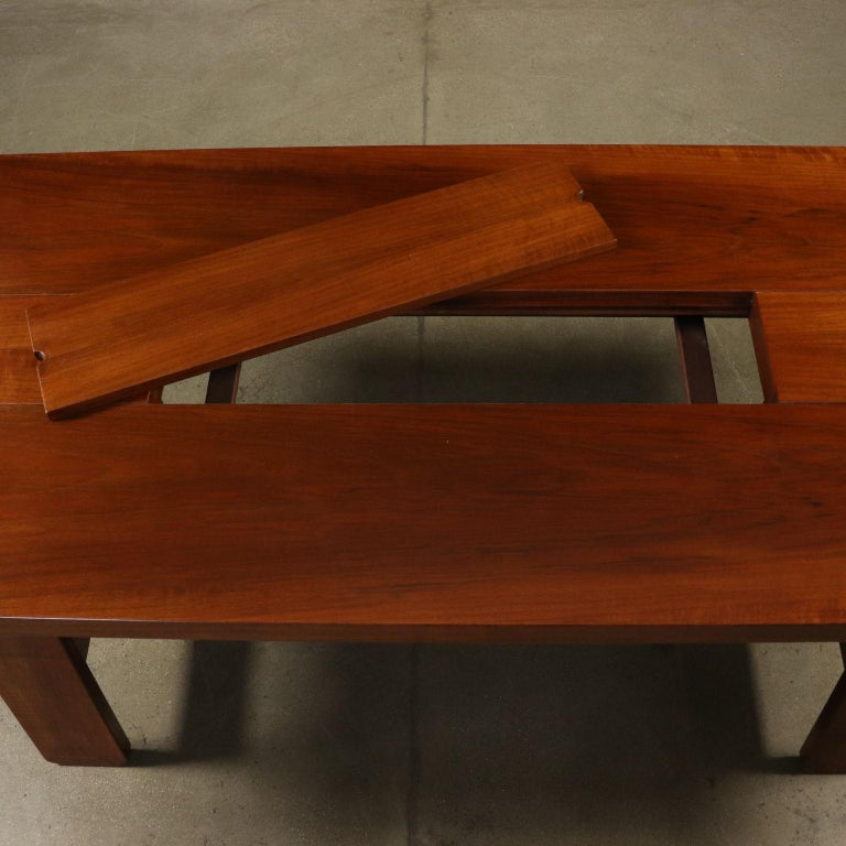 Mid-20th Century Table by Silvio Coppola Solid Wood Vintage Italy, 1960s-1970s For Sale