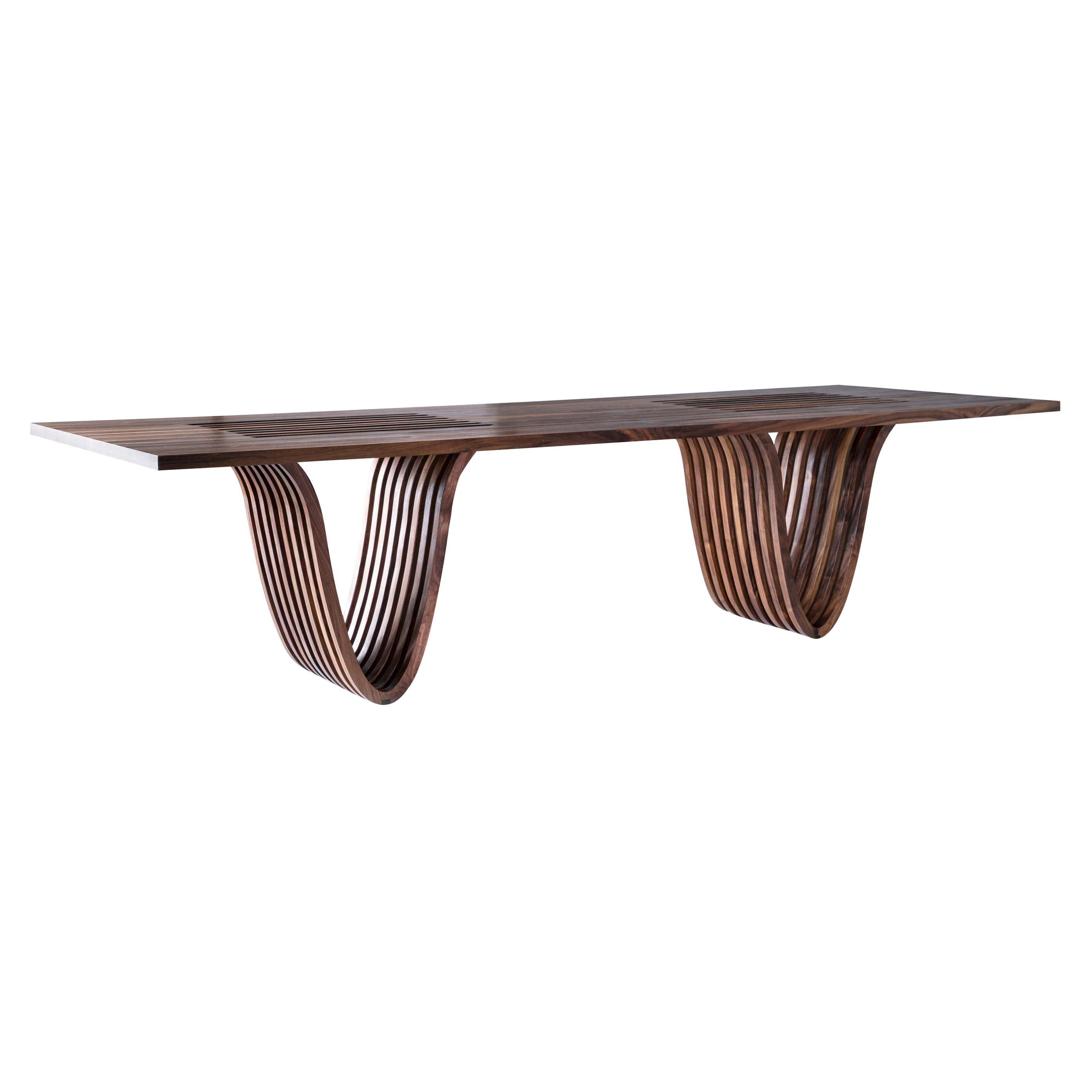 """""""Dining Table""""from the Catenary Collection by Studio Craft Artist Adam Zimmerman"""