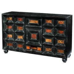 Table Cabinet, Mid-17th Century, Flemish Baroque, Ebonized and Tortoishell