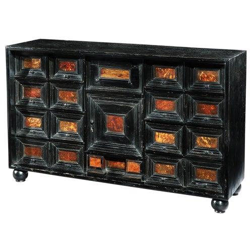 Table Cabinet, Mid-17th Century, Flemish Baroque, Ebonized and Tortoishell