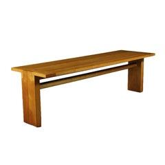 Table Carlo Scarpa Sessile Oak Veneer Solid Ash Italy 1970s 1980s