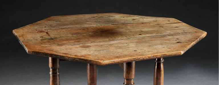 Joinery Table, Centre, Dining, Writing, Walnut, Octagonal, French, Renaissance For Sale
