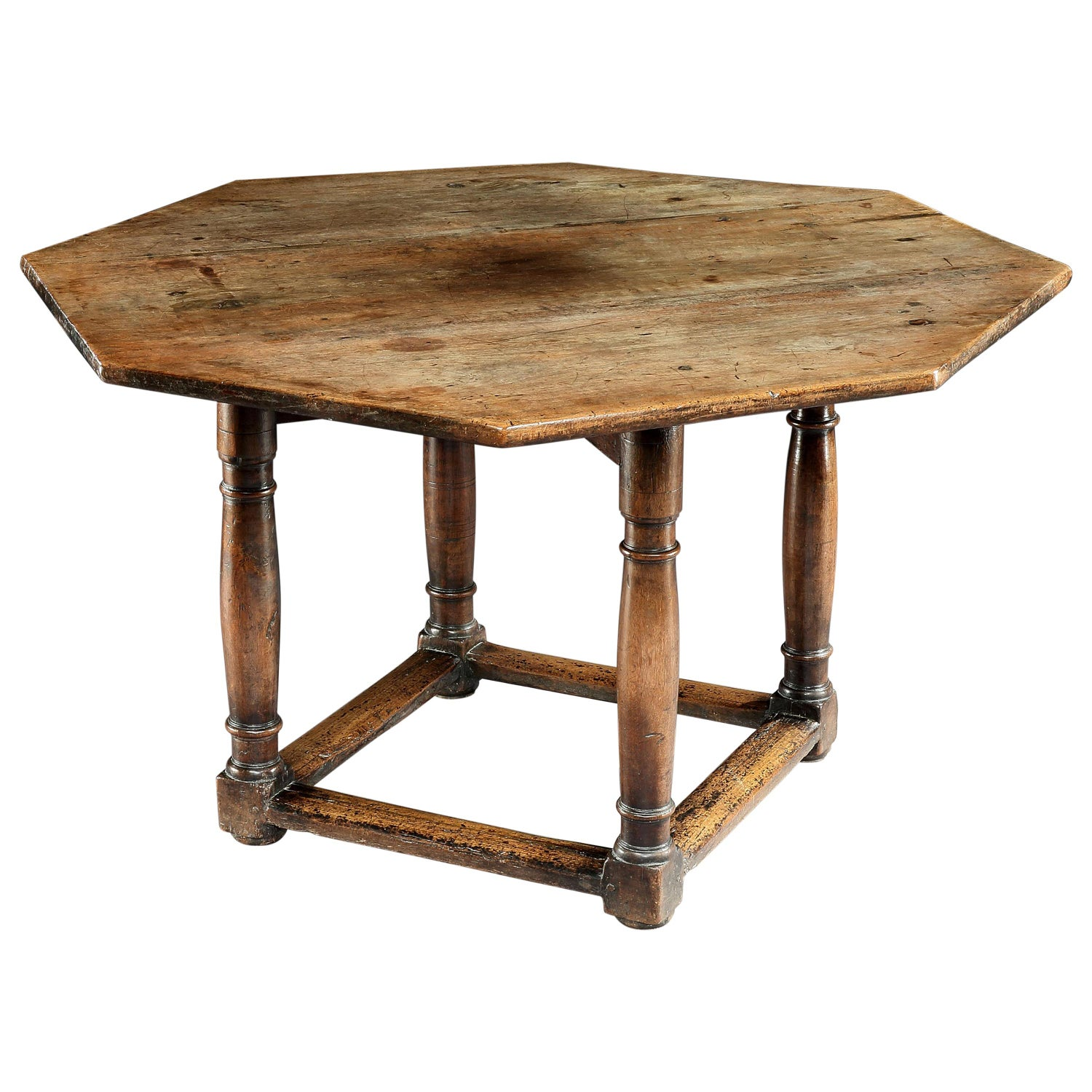 Table, Centre, Dining, Writing, Walnut, Octagonal, French, Renaissance