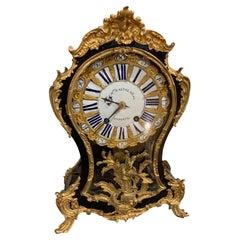 """Table Clock """"CHARLES BALTAZAR / A PARIS"""" 1760, 18th Century"""