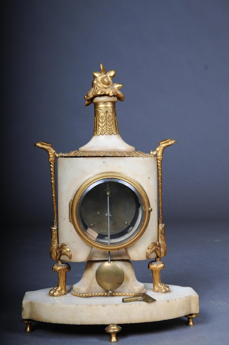 Table Clock / Fireplace Clock in Empire Style Around 1900 For Sale 6