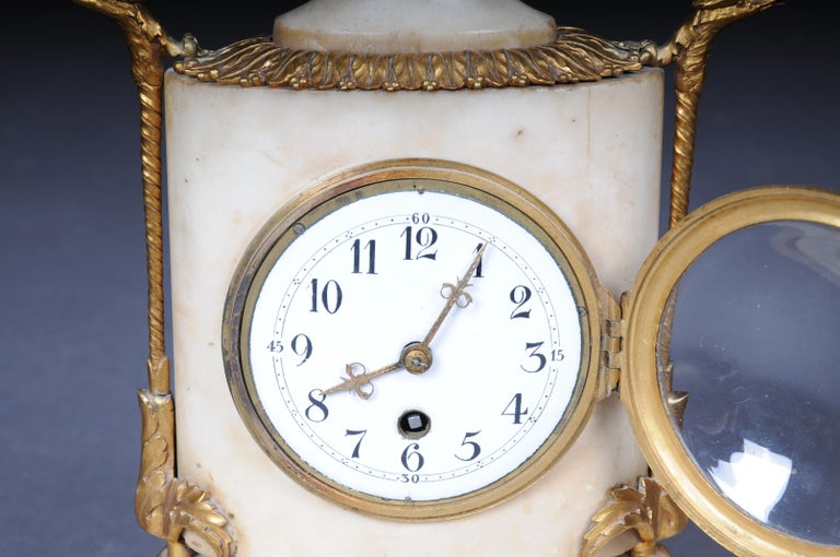 Table Clock / Fireplace Clock in Empire Style Around 1900 For Sale 1