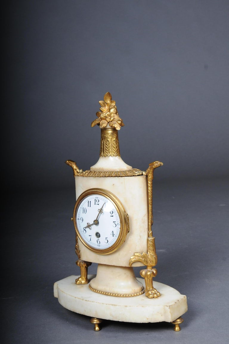 Table Clock / Fireplace Clock in Empire Style Around 1900 For Sale 2