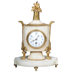 Table Clock / Fireplace Clock in Empire Style Around 1900