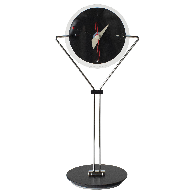 Table Clock Takashi Kato Postmodern, 1980s Japanese Design