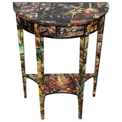 Table Console Demilune Cartoon Decorated Petite Modern, 20th Century