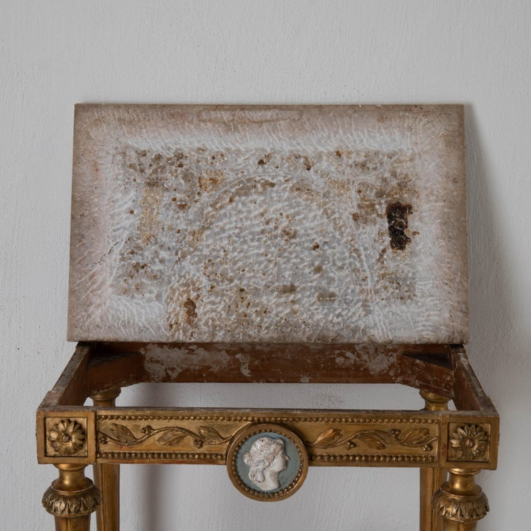 Table Console Rare Quality Swedish Early Gustavian Gilded, 18th Century, Sweden For Sale 7