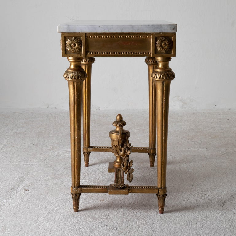 Table Console Rare Quality Swedish Early Gustavian Gilded, 18th Century, Sweden For Sale 3