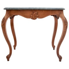 Table, Console with a Marble Top, around 1920