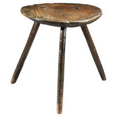 Table, Cricket, 18th Century, English George I, Vernacular, Elm, Ash