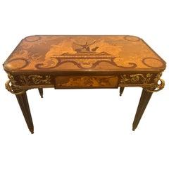 Table De Salon, Signed Francois Linke Centre Table Louis XV Style