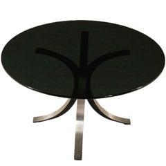 Table Designed for Tecno Steel Aluminium Vintage, Italy, 1970s
