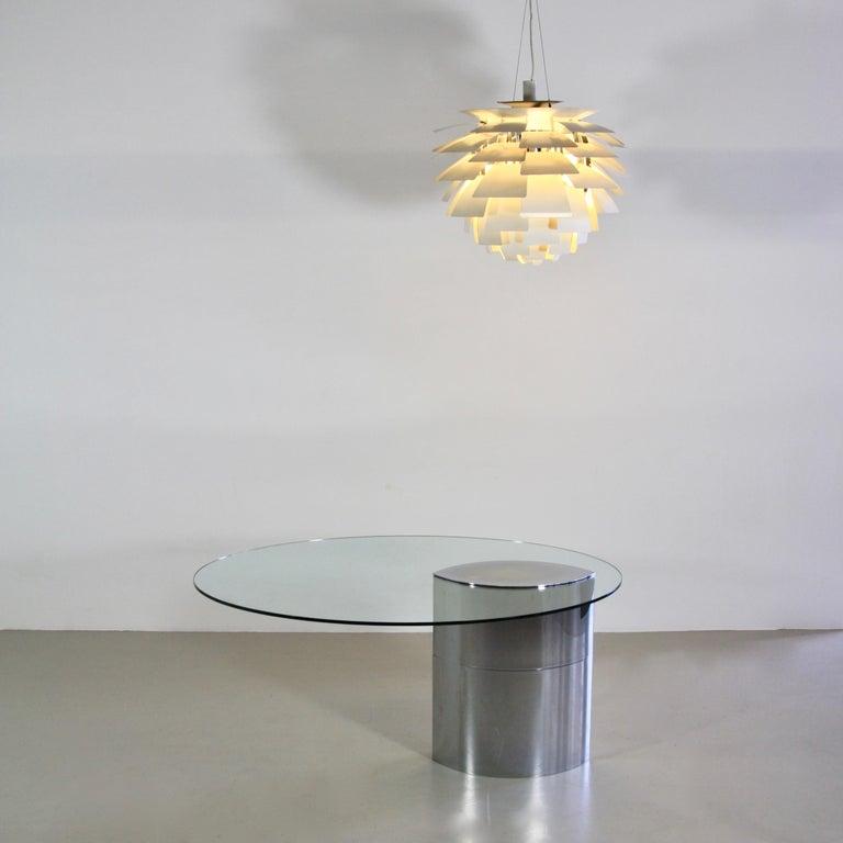 Metal Table or Desk Designed by Cini Boeri, Italy, Gavina, 1971 For Sale
