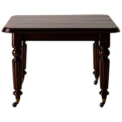 Table Dining Table English Dark Brown Mahogany, 19th Century, England