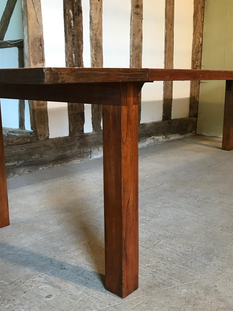 British Table Dining Writing Library Boardroom Teak 20-24-seat, 1950, 12ft long 4ft wide For Sale