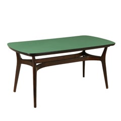 Table Ebonized Wood Formica Vintage Manufactured in Italy, 1950s-1960s