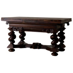 Table Extendable Swedish Baroque Oak Swedish