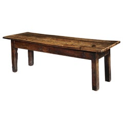 Table, Farmhouse, Dining, Refectory, Oak, 18th Century Vernacular Folk, Country