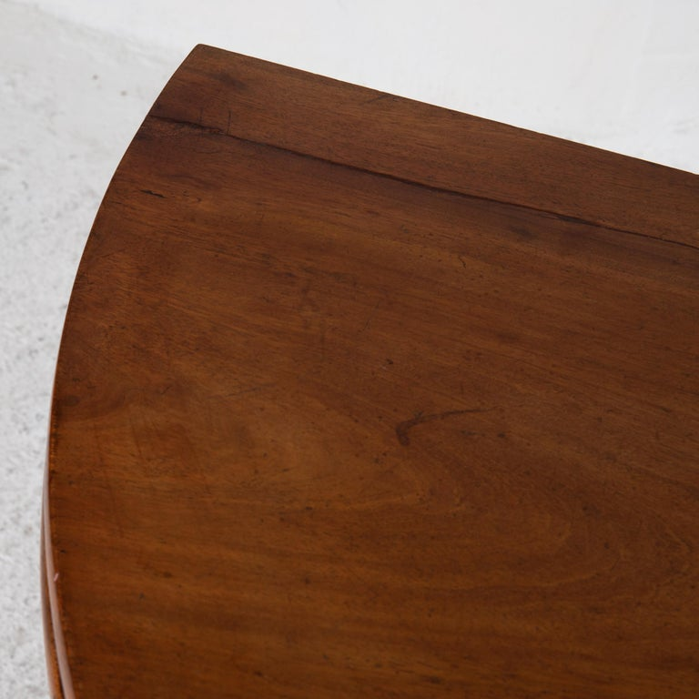 Table Game Table Gustavian Swedish Demi Lune Mahogany Brown, Sweden For Sale 1
