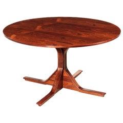 Table Jacaranda Veneer 1960s Gianfranco Frattini Bernini