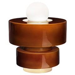 Table Lamp 1.05 in Ceramics, Brass and Blown Glass by Studio HAOS