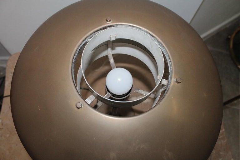 Table Lamp 1950s Stilnovo Mod. 8022 Rare Full Brass Version For Sale 5