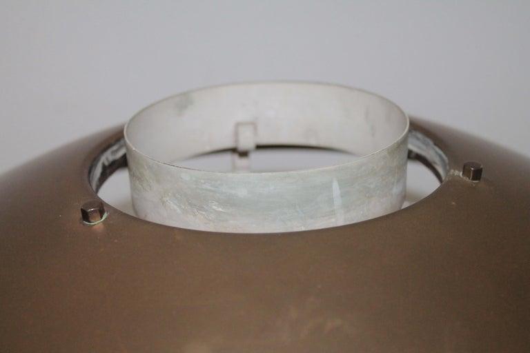 Table Lamp 1950s Stilnovo Mod. 8022 Rare Full Brass Version For Sale 6