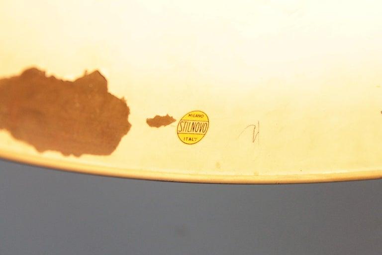 Rare version of Stilnovo table lamp 1950s mod.8022, full brass, working condition.