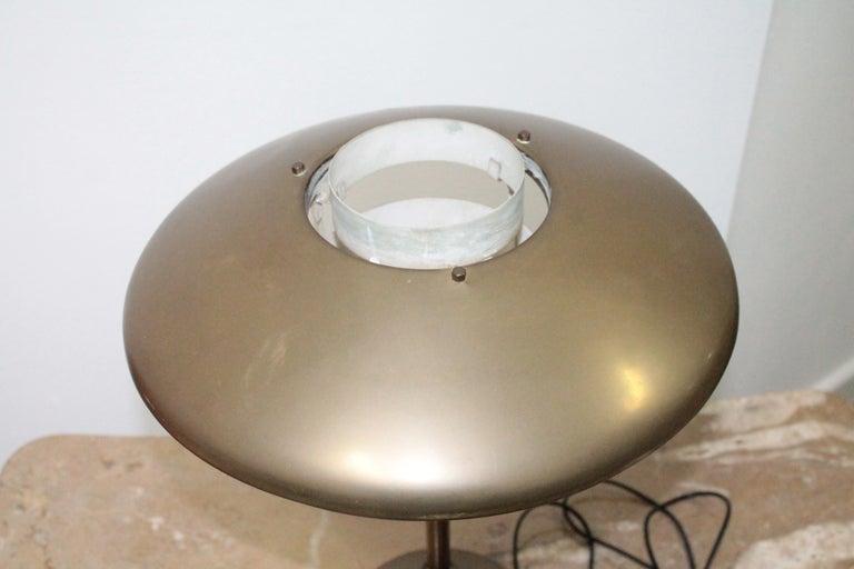 Italian Table Lamp 1950s Stilnovo Mod. 8022 Rare Full Brass Version For Sale
