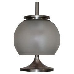 Table Lamp 1960s by Artemide Design Sergio Mazza Frosted Glass
