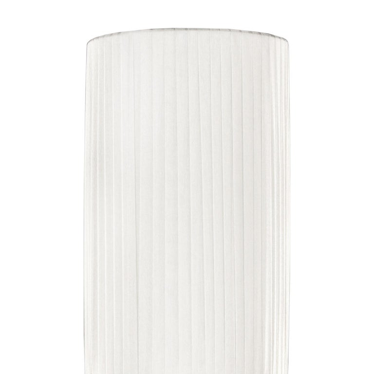 """Other Artistic Table Lamp Silk Glass Clear """"Borchie"""" Grey Lampshade by Multiforme For Sale"""