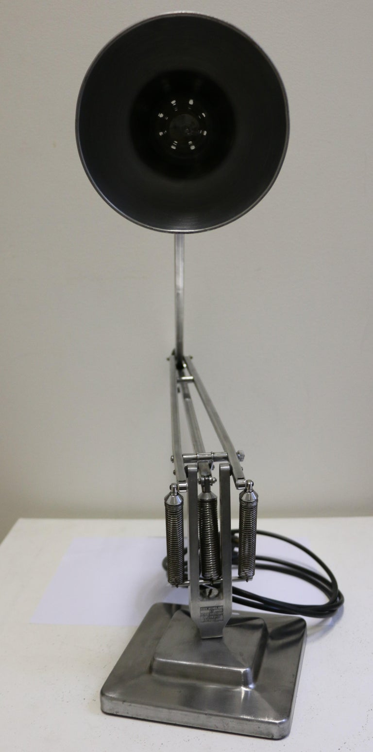 Mid-20th Century Table Lamp Anglepoise by G. Cawardine and Produced by Herbert Terry, UK, 1950s For Sale