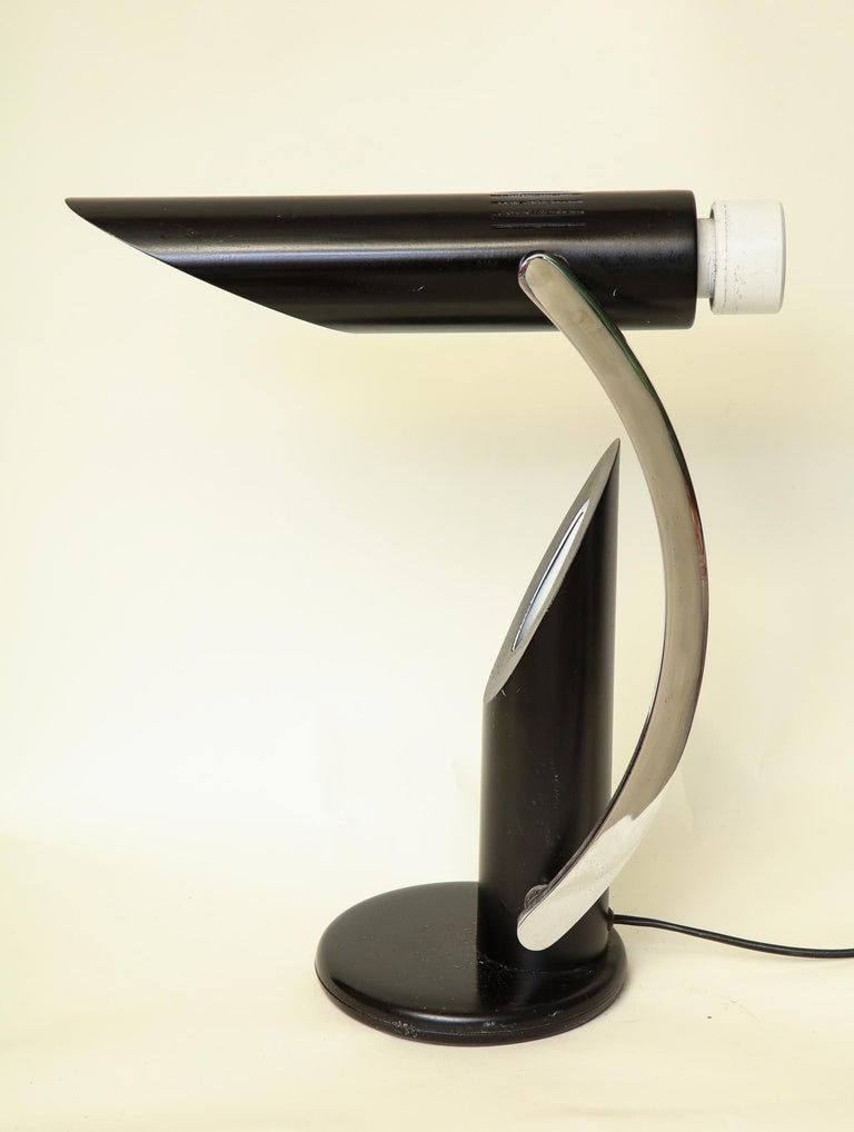 Painted Table Lamp Articulated Mid-Century Modern, Italy, 1970s For Sale