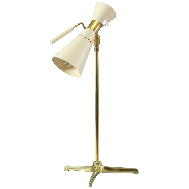 Table Lamp Attributed to Angelo Lelli, Italy, 1950 For Sale