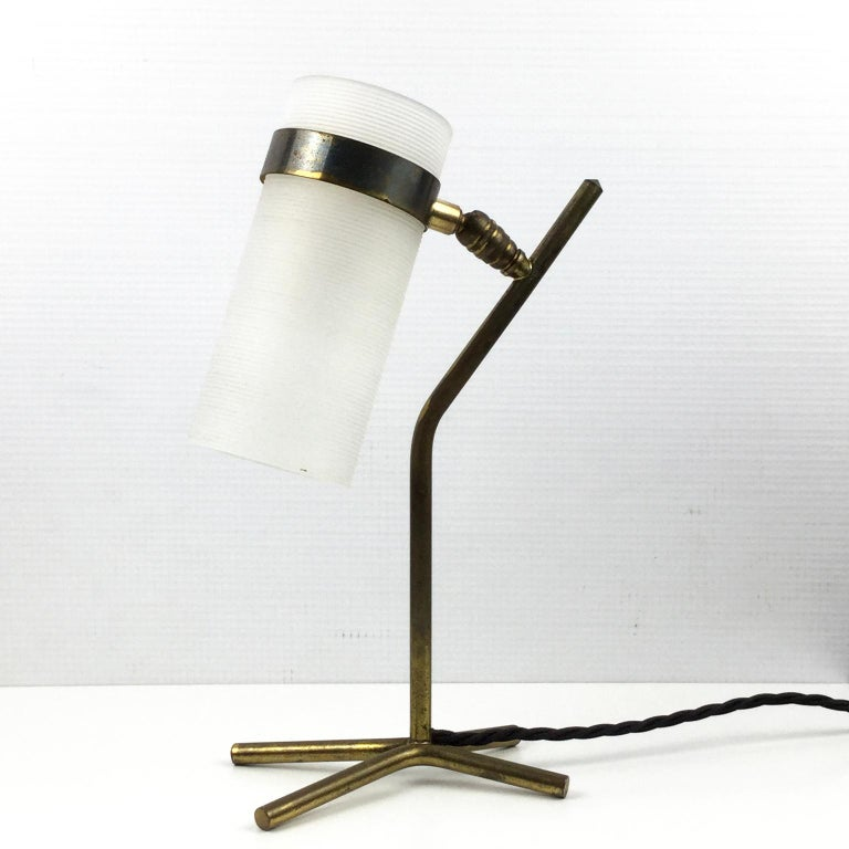 1950s table lamp, edited by Maison Caillat and attributed to Pierre Guariche with the collaboration of Boris Jean Lacroix.
