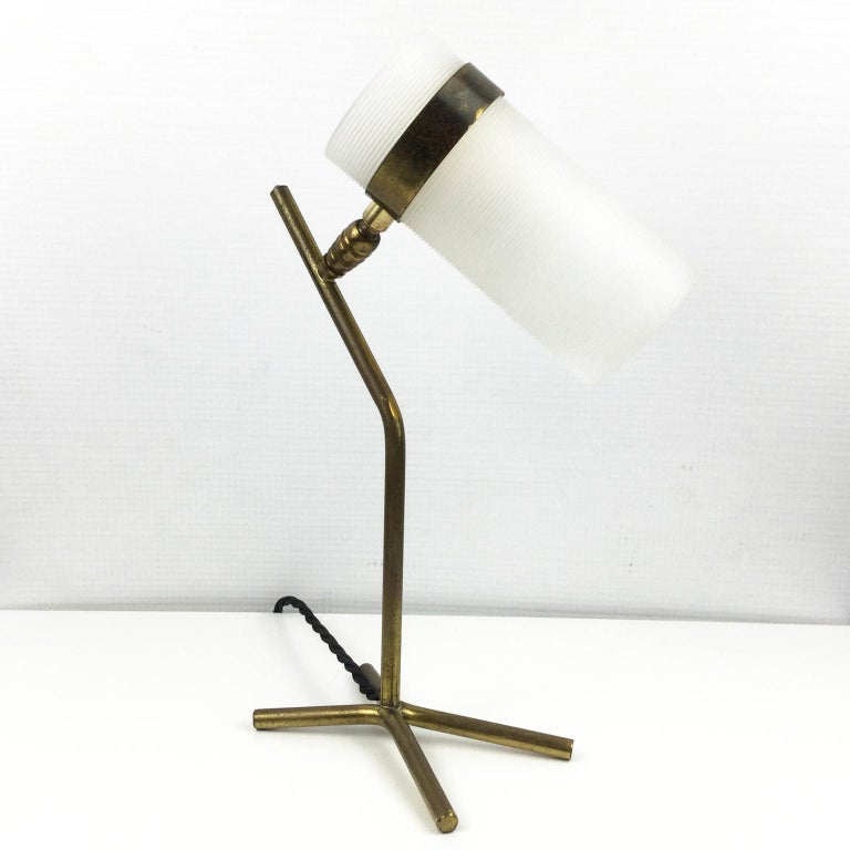 Mid-Century Modern Table Lamp Attributed to Pierre Guariche and Boris Jean Lacroix, France, 1950s For Sale