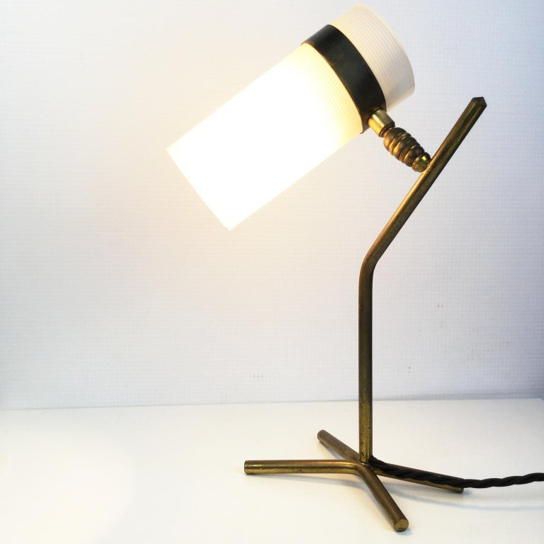 Mid-20th Century Table Lamp Attributed to Pierre Guariche and Boris Jean Lacroix, France, 1950s For Sale