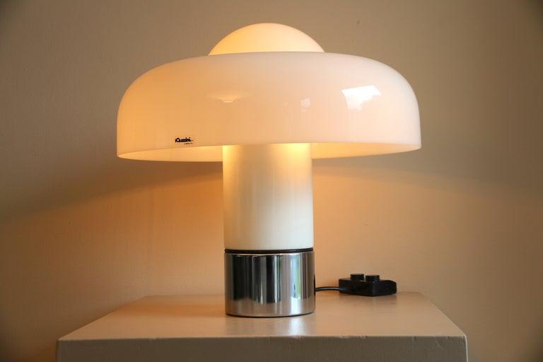 Mid-Century Modern Table Lamp Brumbury by Luigi Massoni for Guzzini / Iguzzini, 2 available
