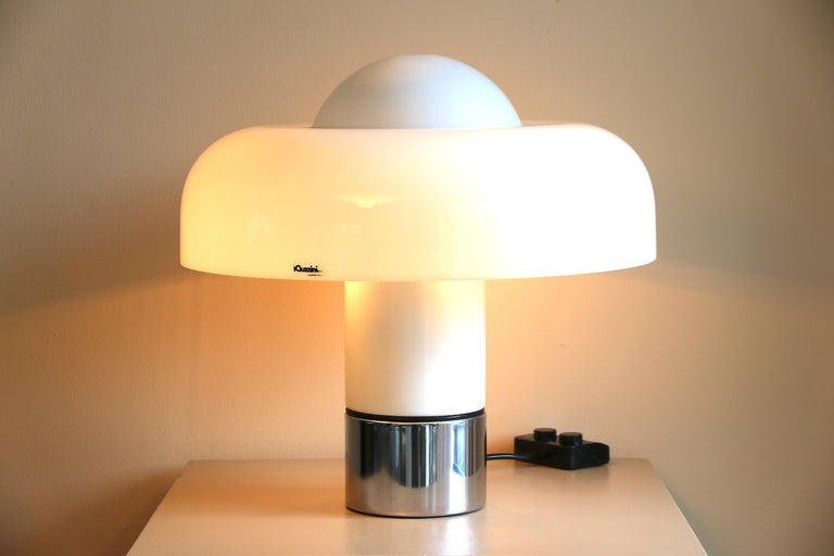 Lacquered Table Lamp Brumbury by Luigi Massoni for Guzzini / Iguzzini, 2 available