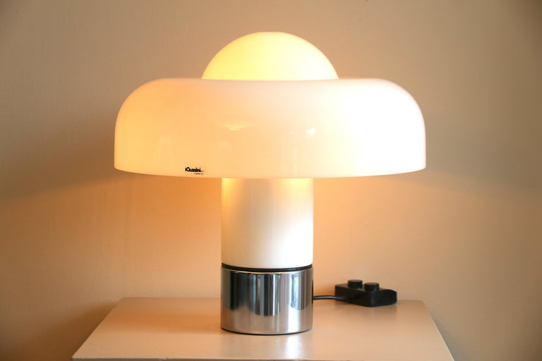 Table Lamp Brumbury by Luigi Massoni for Guzzini / Iguzzini, 2 available In Good Condition In Amsterdam, NL