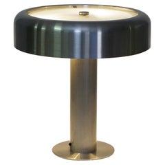 Table lamp, brushed aluminum, Mid-century,  Lumi Italy, Oscar Torlasco 1960