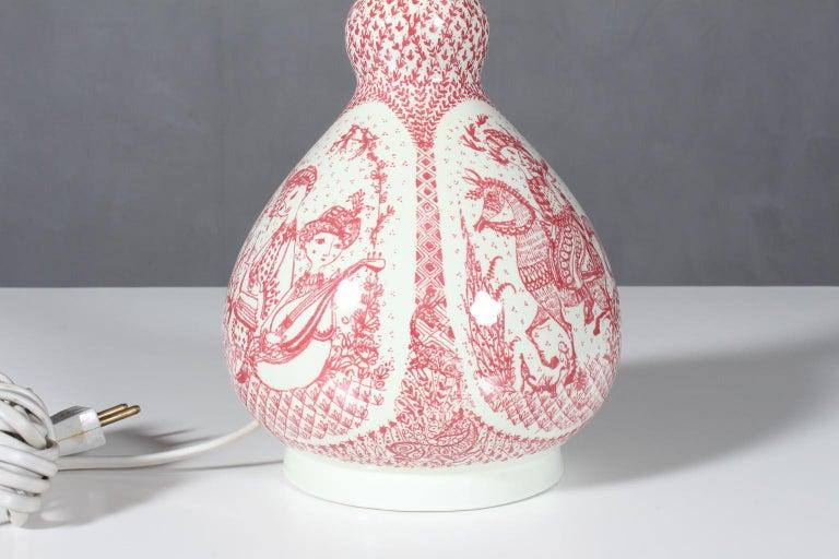 Table lamp by Bjørn Wiinblad made by Nymølle.