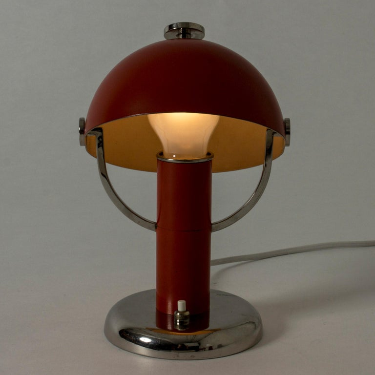 Mid-20th Century Table Lamp by Bo Notini for Böhlmarks, Sweden, 1930s For Sale