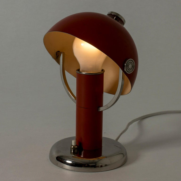 Metal Table Lamp by Bo Notini for Böhlmarks, Sweden, 1930s For Sale