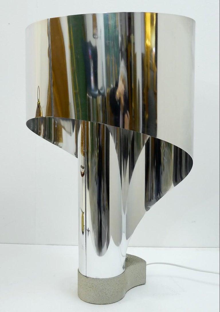 Chrome Table Lamp by Costantino Corsini & Giorgio Wiskemann for Stilnovo For Sale