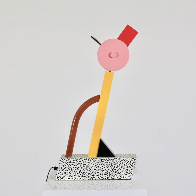 Lacquered Table Lamp by Ettore Sottsass For Sale